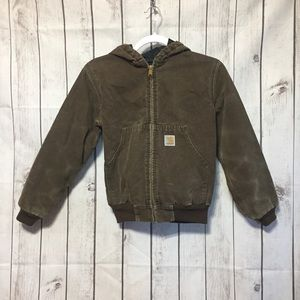 Carhartt Youth M Hooded Jacket Brown Y06 CHT